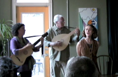 irish music in a coffee shop