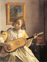 ebony baroque guitar